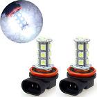 2x H11 H8 18 LED 5050 SMD Car Day Fog Head light Lamp Bulb Super Xenon 12V White