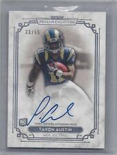 TAVON AUSTIN 2013 TOPPS MUSEUM SILVER ON CARD RAMS ROOKIE AUTO RC #D 33/55
