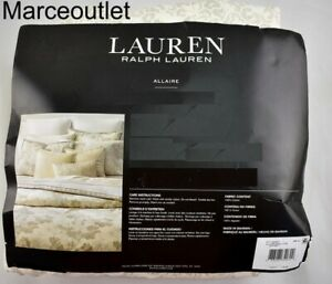 Ralph Lauren Allaire Small Floral Cotton QUEEN Sheet Set Gray Multi