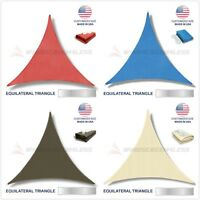 Custom Size equilateral triangle Sun Shade Sail Canopy Awning Patio Pool Cover