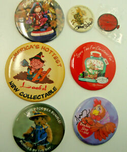 Vintage Lot Of 7 Misc. Collector Buttons Department 56