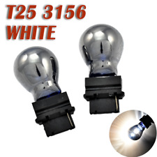 Reverse Backup Light T25 3156 3456 White Silver Chrome Bulb K1 For Ford Buick HA