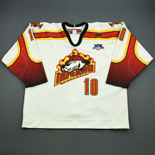 2007-08 Peter Tsimikalis Columbia Inferno Game Used Worn ECHL Hockey Jersey!