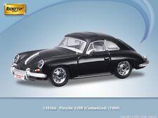 HO 1/87 Ricko # 38366 -1960 Porsche 356B Customized - Black