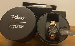 Citizen Disney MICKEY MOUSE Eco-Drive Rose Gold Diamond Women's Watch GA1056-54W