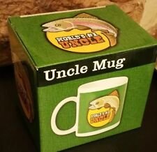 WORLD'S #1 UNCLE GIFT MUG WITH FISHING DESIGN.