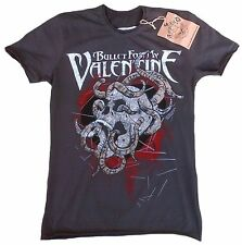 AMPLIFIED BULLET FOR MY VALENTINE Skull Metal Rock Star Vintage T-Shirt g.S 46