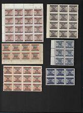 China Taiwan Stamps Revenue Blocks Unused Nh