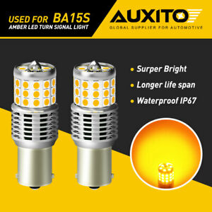 Super Bright 1156 BA15S P21W 7506 LED Turn Signal Light Bulbs Amber Yellow 42smd