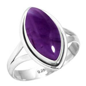 Natural Amethyst Ring 925 Sterling Silver Handmade Jewelry Size 9.5 lZ57502
