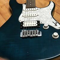 Yamaha Pacifica 812W Blue-Teal Flame Electric Guitar Strat Seymour Duncan