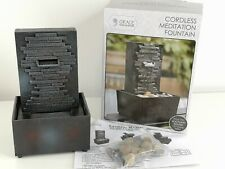 Cordless Meditation Waterfall Fountain Home Tabletop Indoor Water Table Fountain