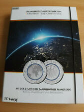 * Bleu Planète Terre 2016 5 € PP-ST complet collection 10 NUMISBRIEFE * système solaire