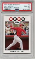 JOEY VOTTO 2008 Topps National Baseball Card Day #7 Cincinnati Reds RC PSA 10