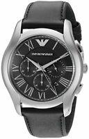 Emporio Armani Men's AR1700 Dress Black Leather Watch