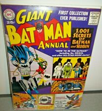 Giant Batman Annual #1 DC  1001 Secrets of Batman Origin Bat-Cave NICE! 1961 !!
