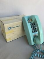 Turquoise Vintage Western Electric Wall Mount Push Tone Dial Phone CS2554BMPG