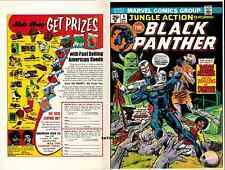 1974 BLACK PANTHER JUNGLE ACTION #9 ORIGINAL COVER PROOF PRODUCTION ART GIL KANE