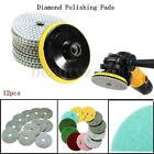 "12Pcs 4"" Diamond Polishing Pads Wet/Dry Set For Granite Stone Concrete Marble"