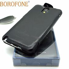 BOROFONE General Genuine Real Leather Book Case For SAMSUNG GALAXY NOTE 3 BLACK