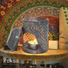 Moroccan Jali Soapstone Oil Burner Diffuser Warmer Tea Light Holder Aromatherapy