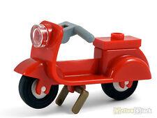 LEGO® Motorroller rot Roller mit Haupt-Ständer Scooter red NEU