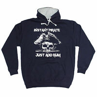 INSTANT PIRATE ADD RUM HOODIE hoody booze alcohol tee birthday funny gift 123t