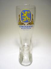 Alter Löwenbräu Bierstiefel Glasstiefel Bierglas 0,5l