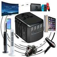 Travel Adapter Universal International Power USB Power Outlet Plug Charger EU US