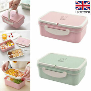 Lunch Box Food Container with 3 Compartment 2 Layers Bento Boxes for School Work
