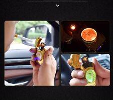 Car clock Electric windproof LIGHTER Double ARC PULSE Flameless Plasma Torch UK