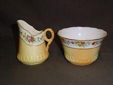 Antique Royal Worcester Blush Ivory Milk Jug & Sugar Bowl - 1903