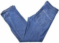 LEVI'S Womens Jeans W32 L34 Blue Cotton Straight  EP01