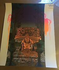 BUDDHA TEMPLE TEST PRINT RARE ONE A KIND 16 X 20 IN FROM A MYSTERY TUBE RARE