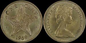 BAHAMAS 1 CENT 1969 (UNC/BU) *NICE COIN*