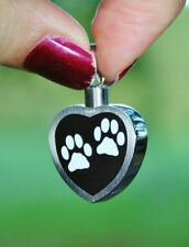 Cremation Jewelry Pendant Urn for Ashes Pet Dog Cat Paw Print Heart US SELLER