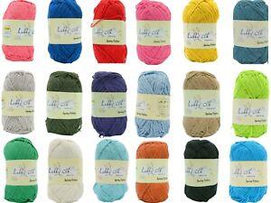 100% Recycled Baumwolle 100gr Natural Cotton Makramee 23 Verschiedene Farben 1,5