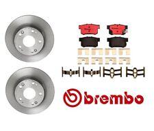 For Acura TSX 2004-2008 Rear Brake Kit Coated Disc Rotors & Ceramic Pads Brembo
