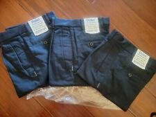 New listing 3 Pack, Parker Uniform Boys Pleated Pants slim Navy Sz 12 W 26 Adjust Waist Nwt