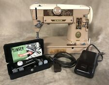 Singer 401A Sewing Machine Slant-O-Matic + Foot Pedal Vintage