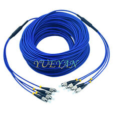 10M Indoor Armored FC-FC 4 Strand Single-Mode 9/125 Fiber Optic Patch Cord Jumpe