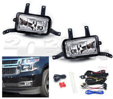 OE STYLE FOG LIGHTS PAIR CLEAR LAMP SWITCH SWITCH FOR 15-17 SUBURBAN TAHOE YUKON