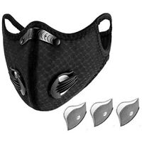RockBros Outdoor Sports Cycling Scarf Neck Face Mask with Filter Black  UK HOT