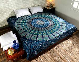 Indian cotton bed sheet