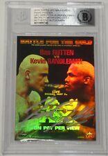 Bas Rutten Signed 2010 Topps Main Event UFC 20 Fight Posters Card Beckett COA 18