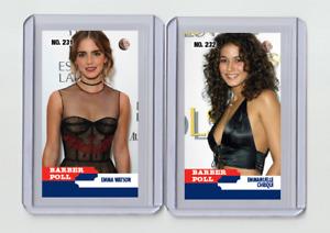 Emma Watson rare MH Barber Poll #'d 2/3 Tobacco card no. 231