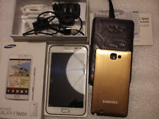 Samsung Galaxy Note, With spare back and leather slip case.