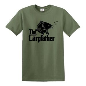 CARPFATHER Carp Fishing T-SHIRT Rodfather Carp hunter crew Gift Father tshirt