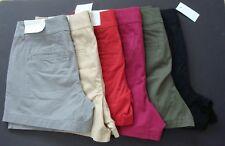 "NWT Women's Loft 4"" Solid Cotton Shorts Size 00  2 4 6 8 10 14 16"