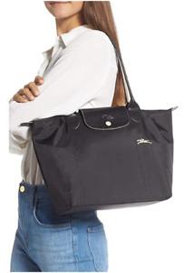 New Longchamp Le Pliage 1899 Nylon Tote Bag with Horse Embroidery Handbag